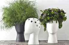 Coiffed Plant Pots - The 'Wig Vase' Turns Leaves and Flowers into Funky Hairstyles