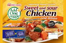 Asian Cuisine Kits - This Frozen Chicken Meal is Completed with the Addition of One Fresh Onion