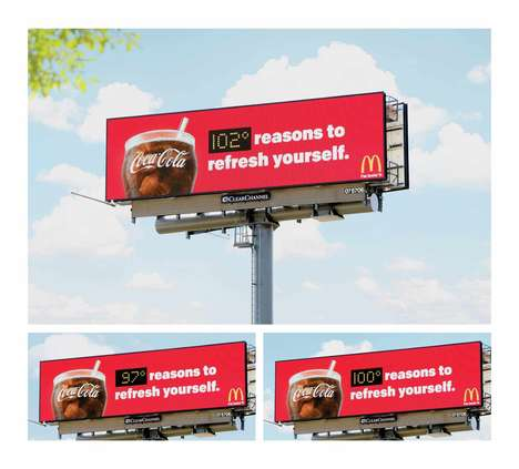 Temperature-Sensitive Billboards - This Coca-Cola Billboard Adapts in Response to Local Weather