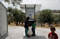 Refugee Smartphone Charging Huts