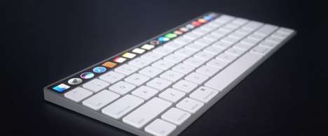 Touchscreen Keyboard Peripherals - This Conceptual Apple Magic Keyboard Features an OLED Display