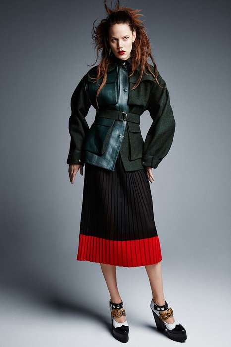 Fierce Oversized Fashion - The Vogue UK Freja Beha Erichsen Editorial is Full of Fall Layers