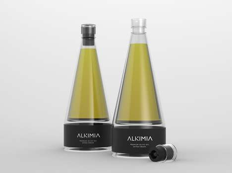 Premium Olive Oil Branding - Alkimia Boasts a Modern and Luxurious Packaging Design