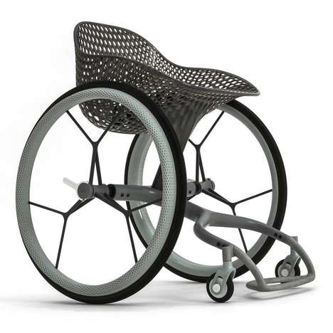 Beautiful 3D-Printed Wheelchairs - The Layerlab GO Wheelchair is a Made-to-Measure Creation