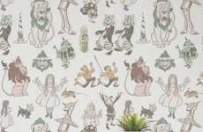 Wonderland-Themed Wallpaper Murals - This Wonderland Wallpaper is Inspired by The Famous Book