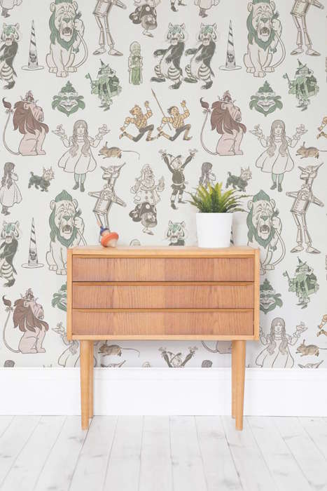 Wonderland-Themed Wallpaper Murals