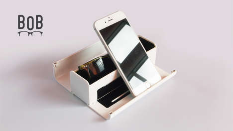 Device-Organizing Glasses Cases - The BOB Glasses Case Displays Devices and Clears Small Clutter