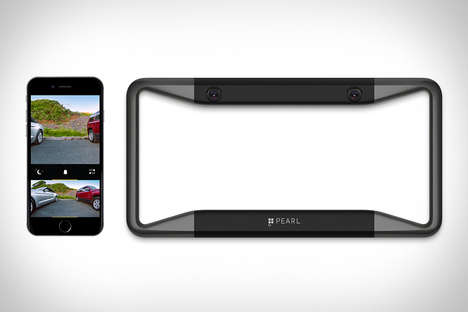 Smartphone Auto Upgrades - The Pearl RearVision Backup Camera Displays Backdrop Images on Phones