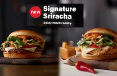 Spicy Fast Food Condiments - The New Sriracha Big Mac Sauce Elevates a Classic Mcdonald's Condiment