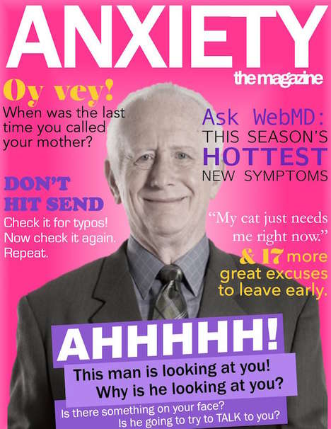 Anxiety-Simulating Magazines - This Fake Magazine is Filled with Content Concerning Anxiety Problems