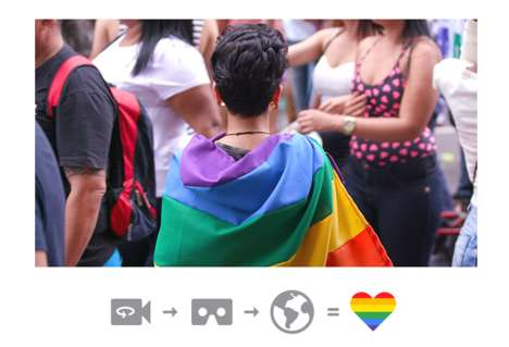 VR Pride Parades - Google's 'Pride for Everyone' Captures Pride Celebrations in 360 Degrees