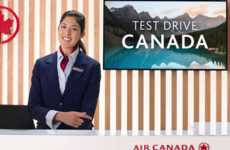 Welcoming Airline Ads - This Air Canada Campaign Appeals to Americans Flying to Canada