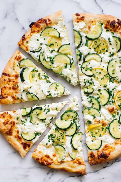 Citrus Zucchini Pizzas
