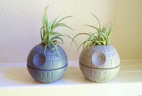 Sci-Fi Spaceship Planters - These Plant Pots Recreate Star Wars Landmarks into Garden Accessories
