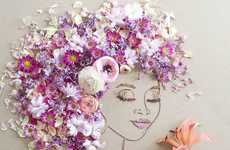 Nature-Made Artwork - This Artist Creates Intricate Portraits Out of Flowers