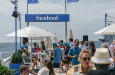 Experiential Beach Events - The Interactive 'Facebook Beach' Was Set Up at Cannes