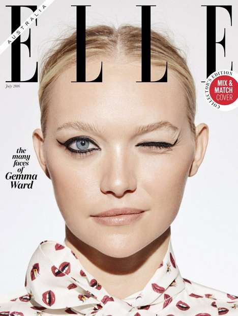 Chameleon Beauty Portraits - 'The Many Faces of Gemma Ward' is an Elle Australia Cover Feature