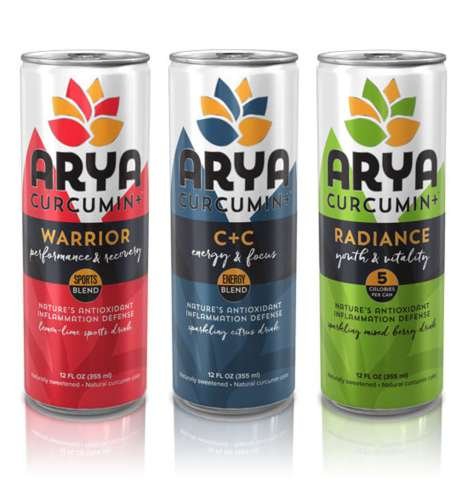 Anti-Inflammatory Drinks - ARYA's Curcumin+ Beverages are Made with a Bioactive Turmeric Extract