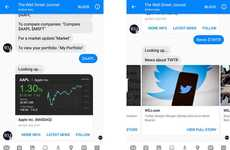 Interactive News Bots - The Wall Street Journal's Facebook Messenger Bot Delivers News On-Demand