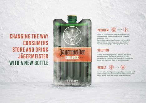 Ice Pack-Shaped Bottles