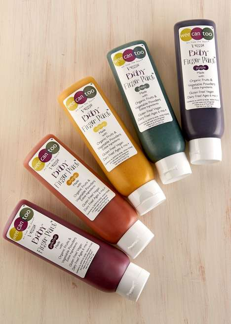 Plant-Based Finger Paints