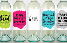 Humorous Greeting Card Labels - These Greeting Cards Can Be Used to Personalize Wine Bottles