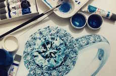 Realistic Gemstone Art - These Realistic Drawings Are Difficult to Differentiate From the Real Thing