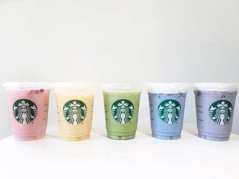 Caffeinated Rainbow Frappuccinos