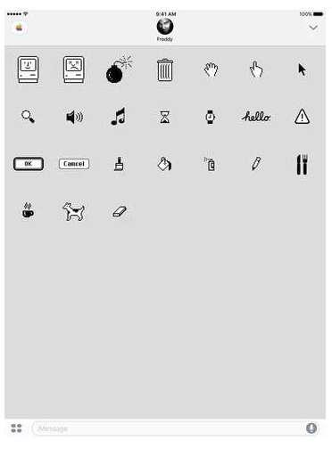 Old-School Mac Emojis