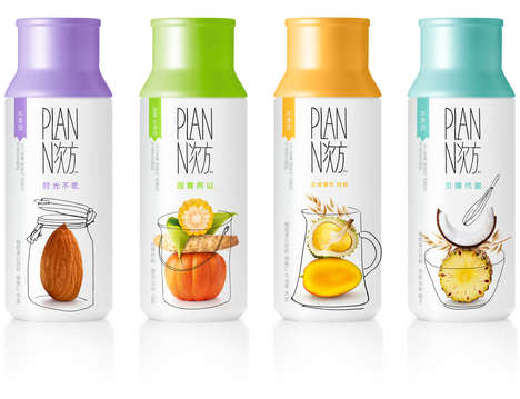 Blended Cereal Shakes - The Plan-n Beverage Contains Nuts, Milk and Museli For Easy Consumption