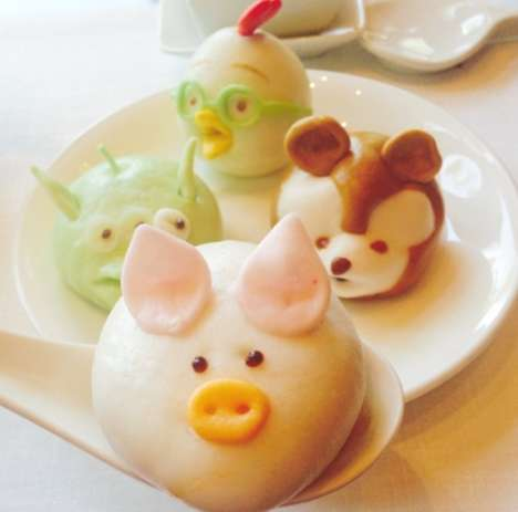 Branded Disney Dumplings - These Dim Sum Rolls By Crystal Lotus are Shaped Like Cartoon Characters