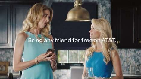 Annoying Friend Ad Campaigns - AT&T Wireless Tells You to Take One of Your Worst Friends to a Movie