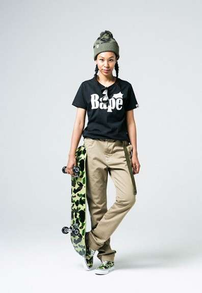 Camo-Covered Ladies Streetwear - The BAPE Clothing Collection was Expanded with a New Line for Women