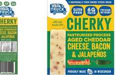 Meat-Filled Cheese Sticks - 'Cherky' is a Meat and Cheese Snack with Cheddar, Bacon and Peppers