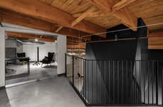 Architecture-Preserving Offices - This Black and Yellow Office Space Prioritizes Collectivity