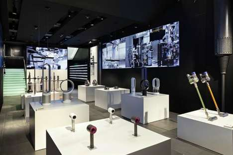 Interactive Appliance Stores - The 'Dyson Demo' London Concept Store Lets People Try Before They Buy