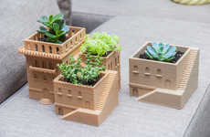 Architectural Succulent Planters - These 3D-Printed Plant Pots are Shaped Like Middle Eastern Villas