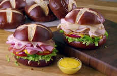 Gourmet Pretzel Roll Sandwiches - Subway's New Pretzel Buns Give Consumers a Gourmet Bread Option