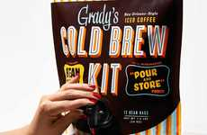 Refillable Cold Brew Pouches - Grady's Cold Brew Kits Offer a Storable Option That is Easy to Pour