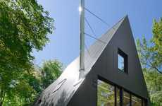 Somber Fairytale Cottages - Jean Verville Designs a Black Triangular Cabin With a Fable Aesthetic
