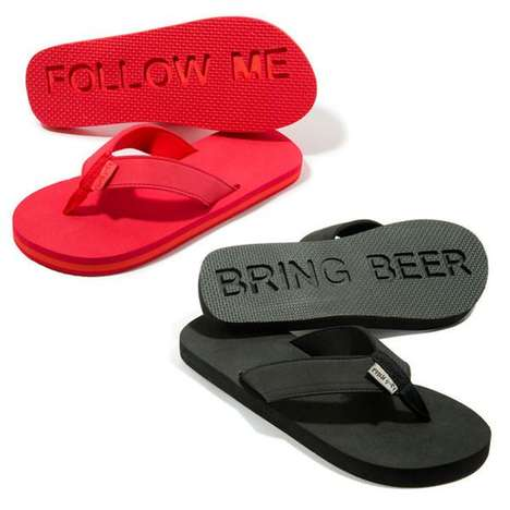 Stamping Message Sandals