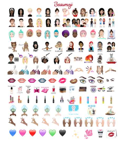 Branded Emoji Keyboards - L'Oréal Launches Branded Emojis Inspired by Hair and Makeup