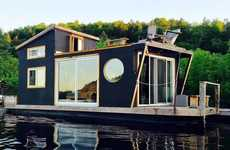 Floating Tiny Houses - 'The River Den' is an Affordable Moving Home on the Water