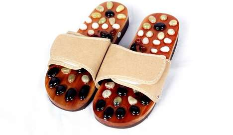 Reflexology Massage Sandals - These Sandals with Built-In Stones Offer Foot Reflexology on the Go