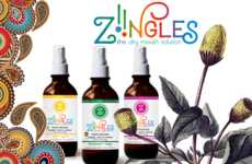 Botanical Mouth Sprays - 'ZIINGLES' Dry Mouth Spray is Formulated with Organic Wild Herbs