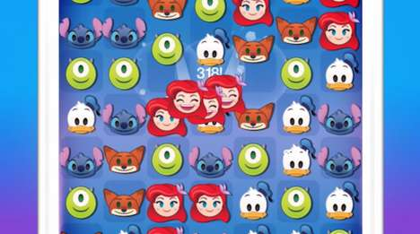 Disney Emoji Games - Users Collect Cartoon Emojis After Playing Games in 'Disney Emoji Blitz'