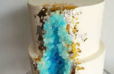 Mineral-Themed Wedding Cakes