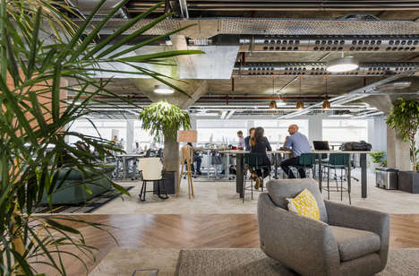 Earthy Informal Offices - This Office Space Was Designed To Reflect the Company's Casual Culture