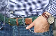 Customized Dual-Fibre Belts - The Beltline Combines Leather and Nylon For More Flexible Wear