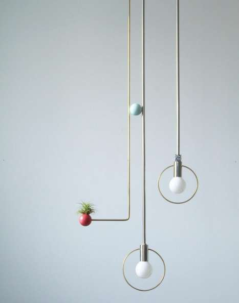 Minimalist Deconstructed Lamps